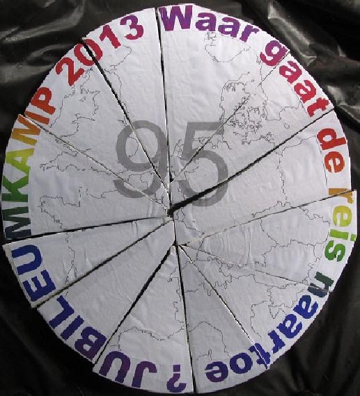 Jubileumkamp 2013 - Waar gaat de reis naar toe?