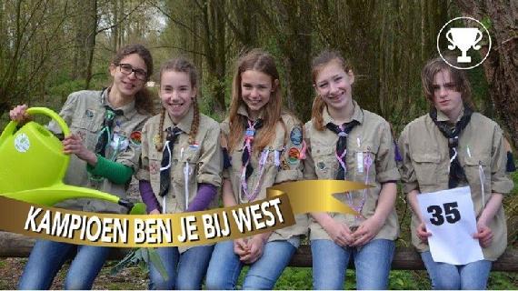 Scouts meisjes winnen goud